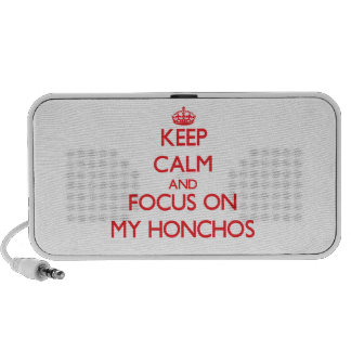 Keep Calm and focus on My Honchos iPhone Speaker