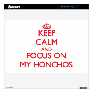 Keep Calm and focus on My Honchos Decals For MacBook