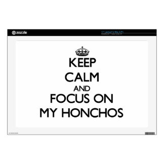 """Keep Calm and focus on My Honchos Decal For 17"""" Laptop"""
