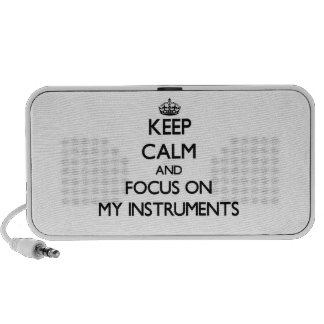 Keep Calm and focus on My Instruments iPod Speaker