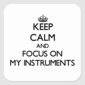 Keep Calm and focus on My Instruments Stickers