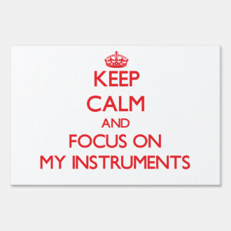 Keep Calm and focus on My Instruments Signs