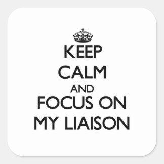 Keep Calm and focus on My Liaison Sticker