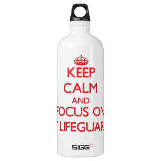 Keep Calm and focus on My Lifeguards SIGG Traveler 1.0L Water Bottle