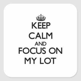 Keep Calm and focus on My Lot Stickers