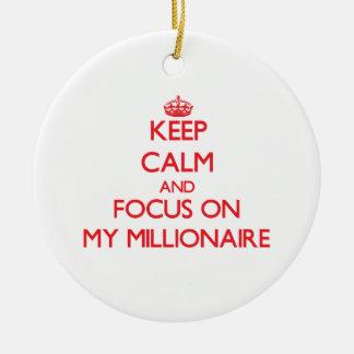 Keep Calm and focus on My Millionaire Christmas Tree Ornaments