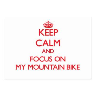 Keep Calm and focus on My Mountain Bike Business Card