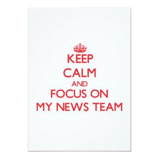 Keep Calm and focus on My News Team Invites