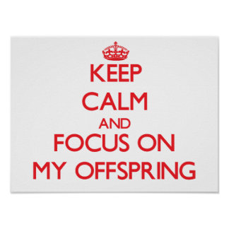 Keep Calm and focus on My Offspring Poster