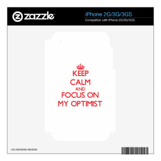 Keep Calm and focus on My Optimist Decals For The iPhone 2G