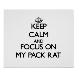 Keep Calm and focus on My Pack Rat Print