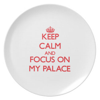 Keep Calm and focus on My Palace Party Plates