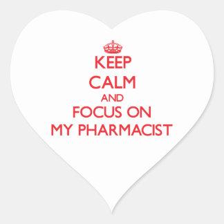Keep Calm and focus on My Pharmacist Sticker