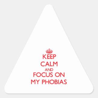 Keep Calm and focus on My Phobias Sticker