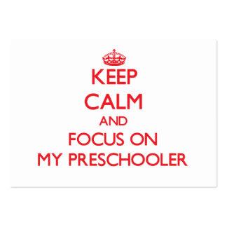 Keep Calm and focus on My Preschooler Business Card Template