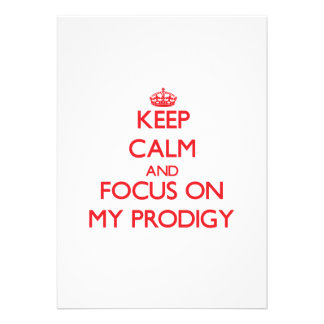 Keep Calm and focus on My Prodigy Announcement