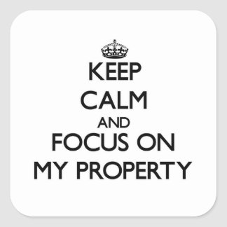 Keep Calm and focus on My Property Sticker