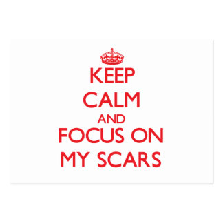 Keep Calm and focus on My Scars Large Business Cards (Pack Of 100)