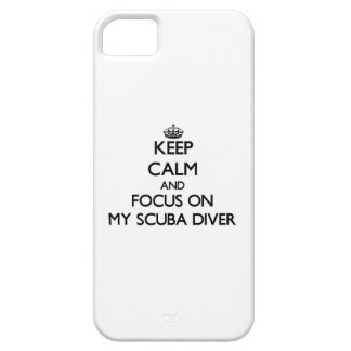 Keep Calm and focus on My Scuba Diver iPhone 5 Cover