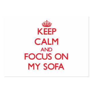 Keep Calm and focus on My Sofa Large Business Cards (Pack Of 100)