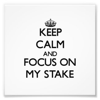 Keep Calm and focus on My Stake Photographic Print