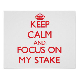 Keep Calm and focus on My Stake Print