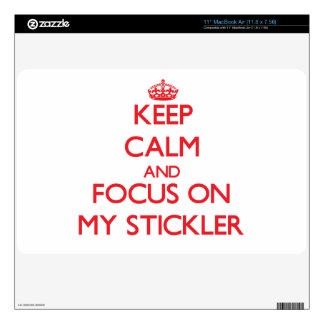 "Keep Calm and focus on My Stickler Skin For 11"" MacBook Air"