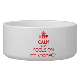 Keep Calm and focus on My Stomach Pet Water Bowl
