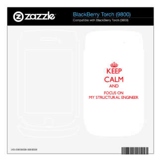 Keep Calm and focus on My Structural Engineer BlackBerry Skins