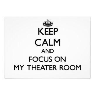 Keep Calm and focus on My Theater Room Custom Invites