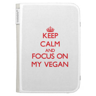 Keep Calm and focus on My Vegan Kindle Case