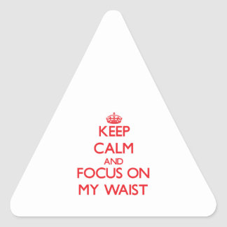 Keep Calm and focus on My Waist Triangle Stickers