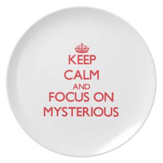 Keep Calm and focus on Mysterious Dinner Plates