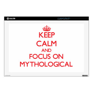 Keep Calm and focus on Mythological Decal For Laptop
