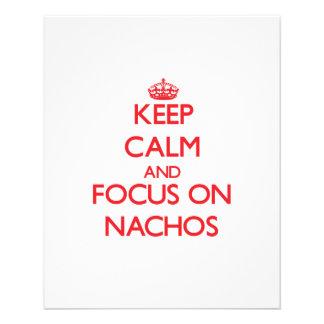 """Keep Calm and focus on Nachos 4.5"""" X 5.6"""" Flyer"""