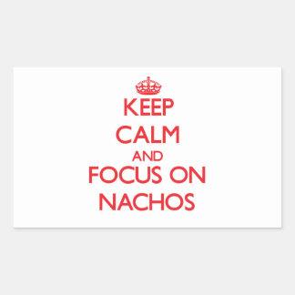 Keep Calm and focus on Nachos Rectangular Stickers