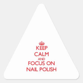 Keep Calm and focus on Nail Polish Triangle Sticker