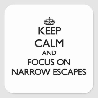 Keep Calm and focus on Narrow Escapes Stickers