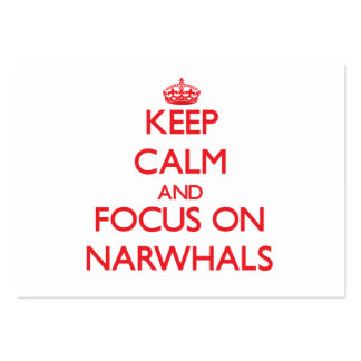 Keep calm and focus on Narwhals Business Card Template