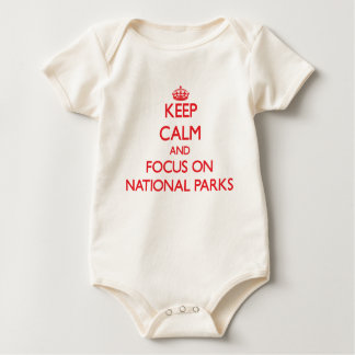 Keep Calm and focus on National Parks Baby Bodysuit