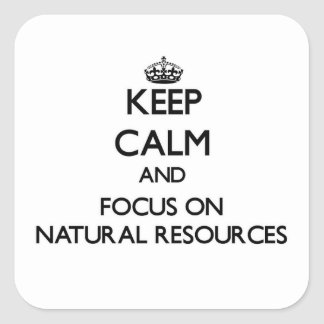 Keep Calm and focus on Natural Resources Square Sticker