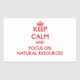 Keep Calm and focus on Natural Resources Rectangular Sticker