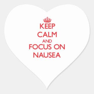 Keep Calm and focus on Nausea Heart Sticker
