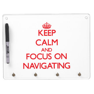 Keep Calm and focus on Navigating Dry-Erase Whiteboard