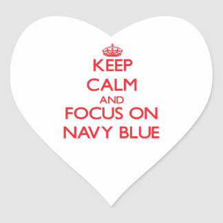 Keep Calm and focus on Navy Blue Stickers