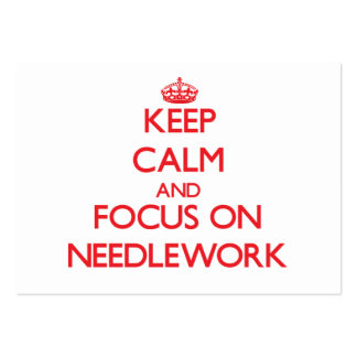 Keep Calm and focus on Needlework Large Business Cards (Pack Of 100)