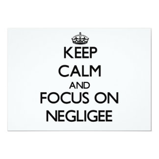 Keep Calm and focus on Negligee Personalized Announcements