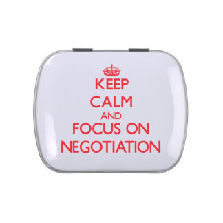 Keep Calm and focus on Negotiation Candy Tins