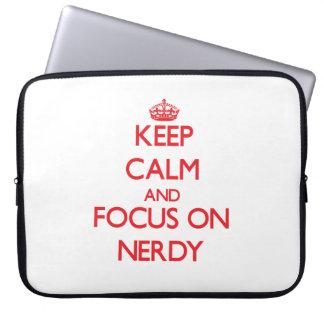 Keep Calm and focus on Nerdy Computer Sleeve