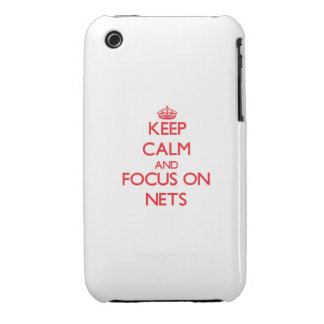Keep Calm and focus on Nets iPhone 3 Cases